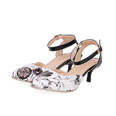 LvYuan Mujer-Tacón Stiletto-Confort Innovador Zapatos del club-Zuecos y pantuflas-Oficina y Trabajo Vestido Informal-Materiales Personalizados Blue