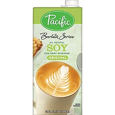 Pacific Natural Foods Barista Series Soy Blenders, Plain, 32-ounce Containers (6-pack)