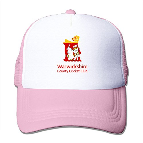 [Baboy Counties Cricket Warwickshir Men's Trucker Hat Sports UV Protect Pink Size One Size] (Sims 3 Bear Costume)