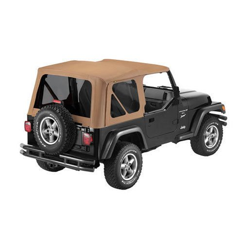 Bestop 79139-37 Spice Sailcloth Replace-A-Top Soft Top with Tinted Windows; no door skins included for 1997-2002 Wrangler TJ