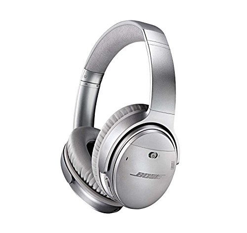 Bose QuietComfort 35 (Series I) Wireless Headphones, Noise Cancelling - Silver - Home Audio Noise Canceling Headphones