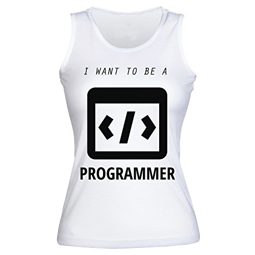 I Want To Be A Programmer, More, Less, Equal Signs Women's Tank Top Shirt Extra Large
