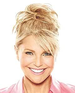 "Natural Tone Hair Wrap HT14/88H Light Blonde - Christie Brinkley 6"" Overall Length Heat Friendly Textured Hairpiece Fun Bun Chignon"