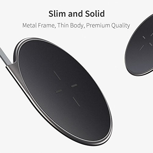 Wireless Charger, ESR Ultra-Slim Premium Qi Wireless Charging Pad iPhone X/iPhone 8/8 Plus, Metal Frame Fast-Charging The Samsung Galaxy S9/S9 Plus/S8/Note 8/S7/S7 Edge (No AC Adapter) by ESR (Image #3)