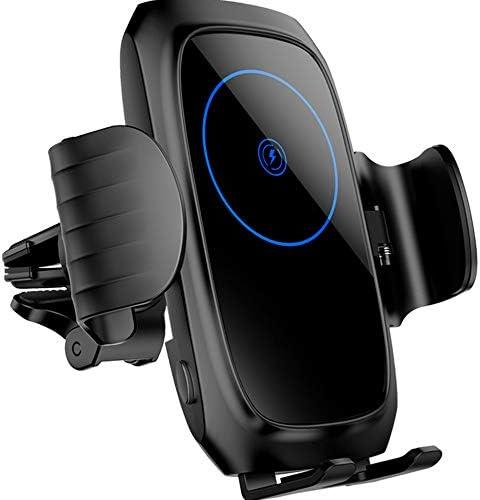 15W車のワイヤレス充電器Qi高速自動クランプ車電話充電器マウントホルダー互換性のあるiPhone Xs Max 8 Plus Samsung Galaxy S10 +S9 + S8 Note 9