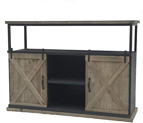 Camin_de_campaña - Consola Industrial con armarios para Puerta corredera (120 x 87 x 38 cm): Amazon.es: Hogar