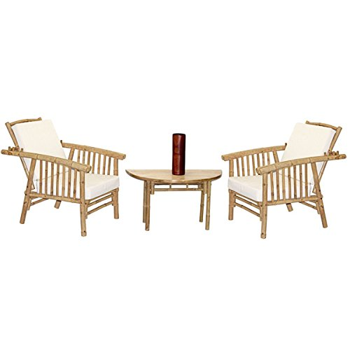 Bamboo54 4 Piece Mikong Chairs and Semi Round Table Set (Vietnam) price