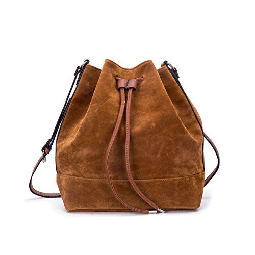 Large Bucket Shoulder Handbag Bag (Classic Suede Drawstring Bucket Bag for Women Large-capacity Shoulder Bag and Crossbody Purse Tote)