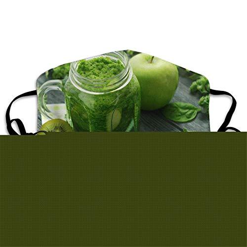 Washable Jar Glass with,Green Smoothie Antidust Face,Mouth Mask Hot Muffle Flu Warm Masks Unisex Anti Dust Mask ()