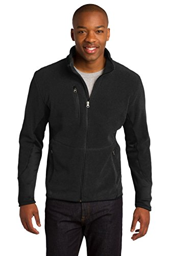 Port Authority Men's R Tek Pro Fleece Full Zip Jacket L Black/Black