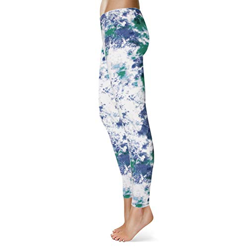 High Waisted Leggings for Women - Ultra Soft Stretchy Workout Pants – Reg/Plus Size (Ink Pattern, Plus Size (12-24)) by Syrinx (Image #5)