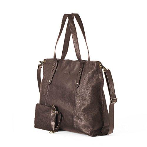 Ellington Handbags Delia Tote - Large With Crossbody Strap Chocolate ()