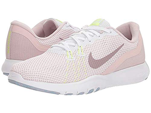 - Nike Women's Flex TR 7 Training Shoe White/Elemental Rose/Barely Rose Size 8.5 M US