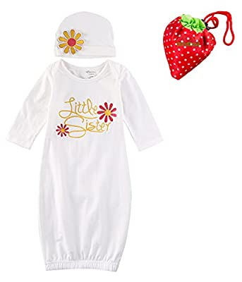 Baby Girl Clothes Newborn Infant Girl Take Home outfit Baby Gown Girl Gift Set