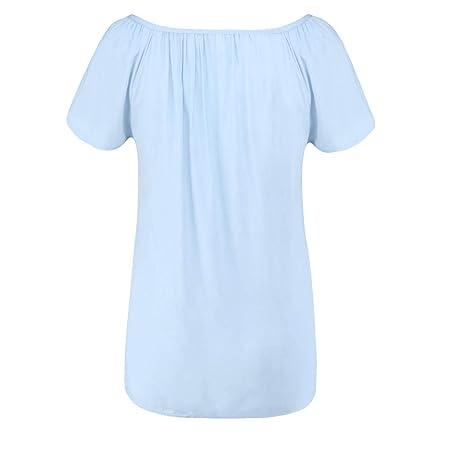 Wave166 Camisetas Mujer Tallas Camisetas Mujer Manga Corta ...