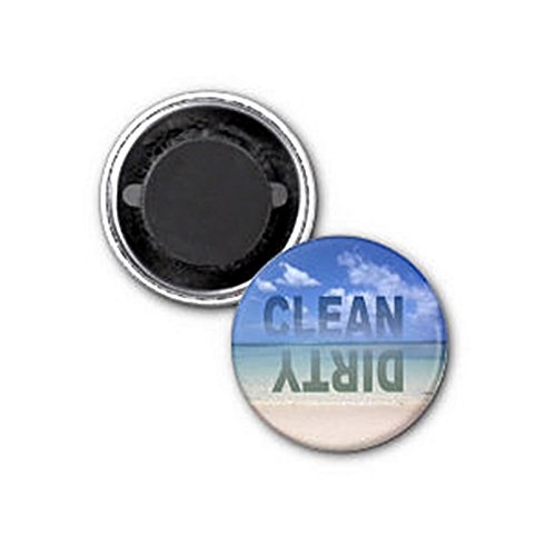 Clean Dirty Dishwasher magnet with beach - Aardvark Magnet