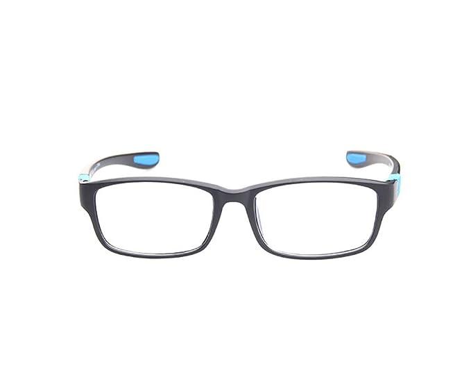 c859787acb6 KDEAM Men Sport Eyeglass Frames Myopia Glasses Optical Eyewear Frame RX  Glasses (Black Blue