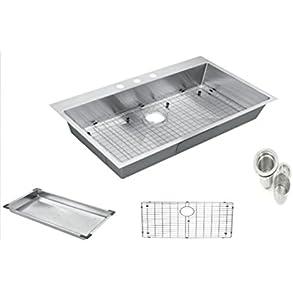 Starstar 30' Topmount / Drop In 304 Stainless Steel Single Bowl Kitchen Sink with Accessories