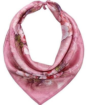 Helan femmes R/éel Soie Naturelle 53cm X 53cm petits foulards de soie carr/és