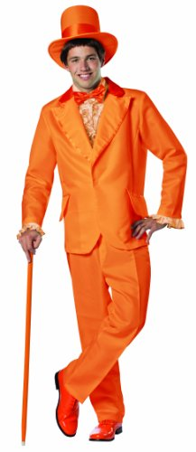 [Rasta Imposta Dumb and Dumber Lloyd Christmas Tuxedo Costume, Orange, One Size] (Adult Orange Tuxedo Costumes)