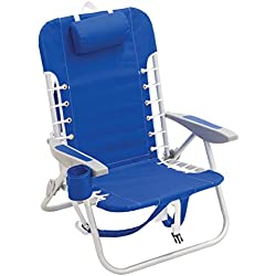 Rio Beach Lace-Up Suspension Folding Backpack Beach Chair - Light Blue