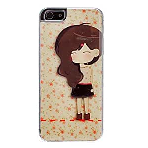DD Lovely Long Hair Girl Pattern Epoxy Hard Case for iPhone 5/5S