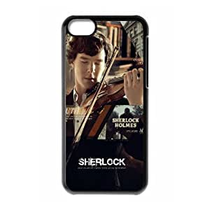 linfenglin Print Sherlock Pattern Hard Case for iPhone 5C