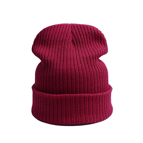 New Fashion Winter Hat Women Man Hat Skullies Beanies Unisex Warm Hat Knitted Cap Hats For Men Beanies Simple Warm Cap Soft Cap J - Stretch Hat How A Flex Fit To