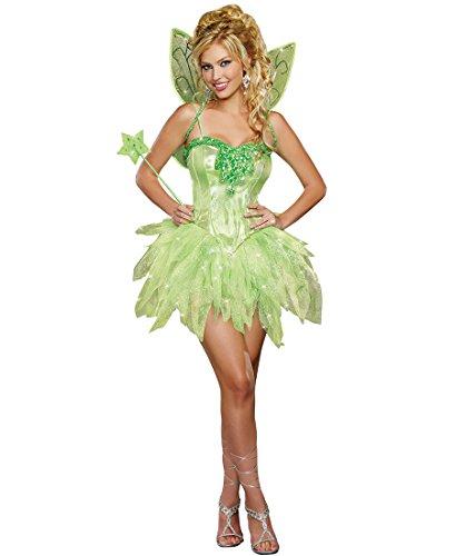 Dreamgirl 9452 Fairy-Licious Costume - Medium - Green (Fairy Of Dreams Costume)
