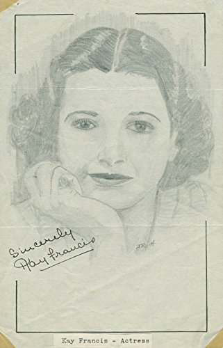 Kay Francis – Original Art Signed co-signed By: John Raitt
