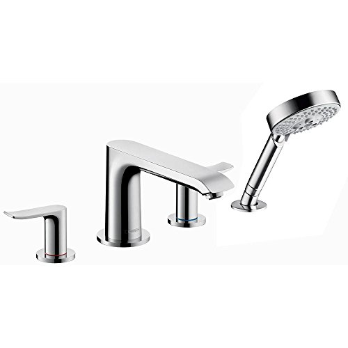 Hansgrohe 31444001 Metris 4-Hole Roman Tub Set Trim, Chrome (Set Shower Hansgrohe Metris)