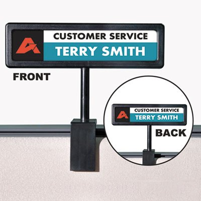(Wholesale CASE of 10 - Advantus People Pointer Cubicle Sign-People Pointer Cubicle Sign, 9