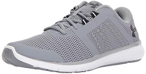 Under Armour Men's Fuse FST Running Shoe, Steel (100)/White, 13