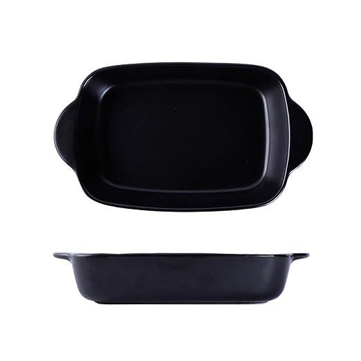 Cerámica fuente de horno Binaural placa de cerámica recipiente for ...