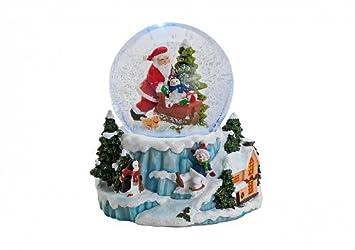 Carillon palla di vetro con neve con neve automatica vortice