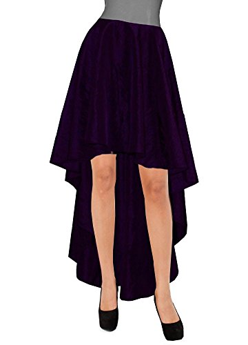 E K Women's plus size taffeta skirt Mullet evening formal prom bridesmaid skirt-4X-d. purple