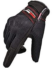 Madbike Motorbike Racing Gloves Summer Motorcycle Gloves Mesh Breathable Touch Screen (M, Red)