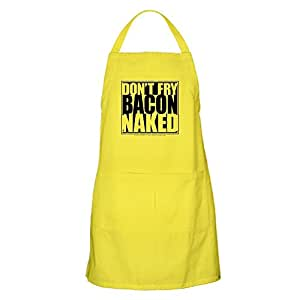 CafePress - Don't Fry Bacon Naked BBQ - 100% Cotton Kitchen Apron with Pockets, Perfect Grilling Apron or Baking Apron