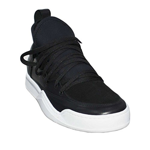 Sneakers bassa scarpe uomo made in italy art az0120 vera pelle fondo bianco curvo made in italy comfort