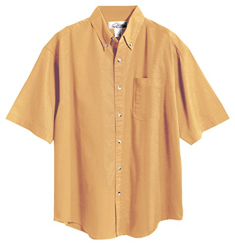 Maize Collection - Tri-mountain Mens 60/40 stain resistant short sleeve twill shirt. 768 - MAIZE_L