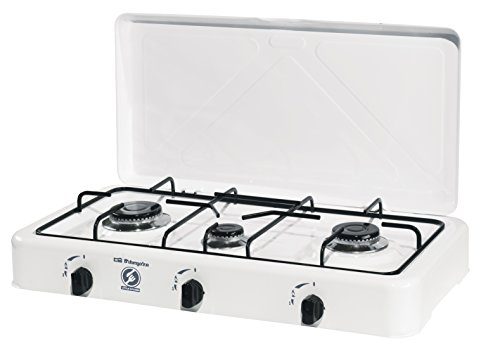 Orbegozo FO 4550 4550-Hornillo Gas, 4 quemadores, 1400 W, Esmaltado, Color Blanco: Amazon.es: Hogar