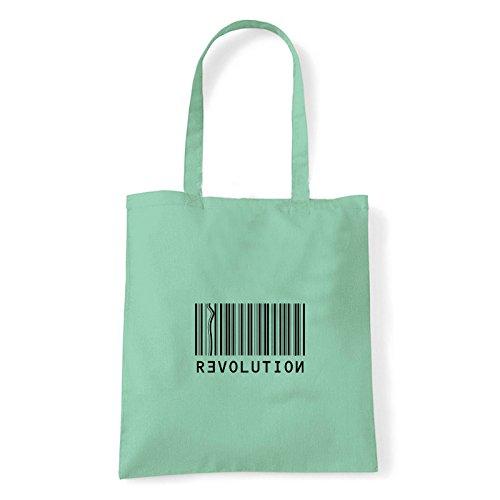 T Bolso bag Revolution Hombro Algodón Menta De Al shirt Mujer Para Art dBgSwd