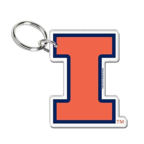 WinCraft Illinois Fighting Illini Premium Acrylic Key Ring 2.2 x 1.6 - Illini Illinois Fighting Key