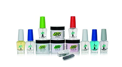 SNS Nails Dipping Powder, Student Starter Kit 4, Pink and White by SNS Nails