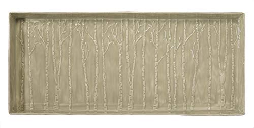 HF by LT Birch Forest Design Enamel Boot Tray, 30'' x 13'', Putty Finish by HOME FURNISHINGS BY LARRY TRAVERSO