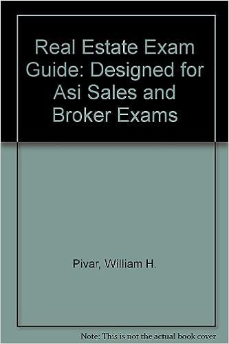 Read Real Estate Exam Guide: Designed for Asi Sales and Broker Exams PDF, azw (Kindle), ePub, doc, mobi