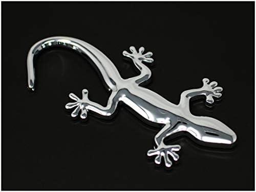 Emblema tridimensionale a forma di geco con retro adesivo in gommapiuma