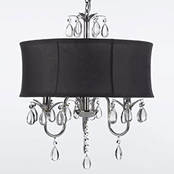 drum shade pendant lighting. modern contemporary black drum shade u0026 crystal ceiling chandelier pendant lightning fixture lighting h