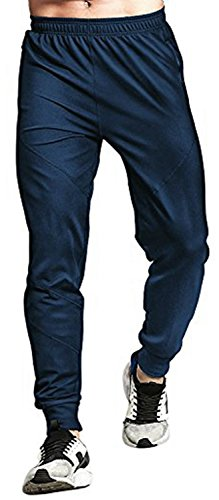 TBMPOY Men's Tapered Active Basic Training Sweatpants(Navy,us XS) (Mens Xs Sweatpants)