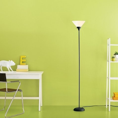 Room Essentials Torchiere Floor Lamp, Black